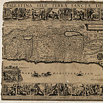 Map of Palestine, 1680, Antique world maps HQ