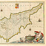 Jan Willemsz. Blaeu – Cyprus, 1650, Antique world maps HQ