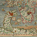 Olaus Magnus - Carta Marina, 1539, Section H: Denmark, Sweden, Antique world maps HQ