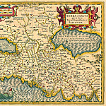 Jodocus Hondius – Holy Land, 1613-16, Antique world maps HQ