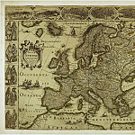 A map of Europe, The end of the 16th century, Antique world maps HQ
