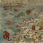 Olaus Magnus - Carta Marina, 1539, Section B: Lappland, Finland, Antique world maps HQ
