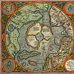 Mercator, Gerhard - First Map of the North Pole, 1569, Antique world maps HQ