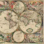 Gerard van Schagen - World Map, 1689, Antique world maps HQ