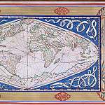 World map made in Dieppe, 1570, Antique world maps HQ