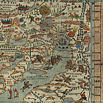 Antique world maps HQ - Olaus Magnus - Carta Marina, 1539, Section F: Moscow