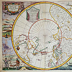John Seller - A Map of the North Pole, Antique world maps HQ