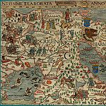 Olaus Magnus – Carta Marina, 1539, Section C: The North Pole, Antique world maps HQ