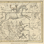 Antique world maps HQ - Canis Major, Canis Minor, Monoceros, Argo Navis, l'Atelier de l'Imprimeur, Pyxis Nautica