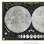 The Earths Moon, 1969, Antique world maps HQ