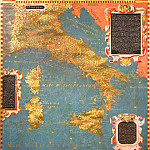 Antique world maps HQ - Map of Italy with Corsica and Sardinia