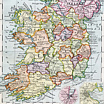 Map Of Ireland and Northern Ireland, 1930, Antique world maps HQ
