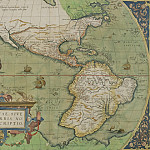 Abraham Ortelius – Map of North and South America, 1570, Antique world maps HQ