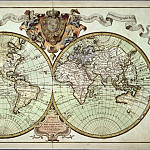 Guillaume Delisle – World map, 1720, Antique world maps HQ