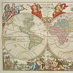 World map, 1792, Antique world maps HQ