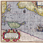Abraham Ortelius – Pacific Sea, 1589, Antique world maps HQ