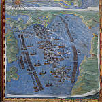 Island of Corfu and Battle of Lepanto, Antique world maps HQ