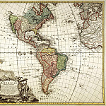 North and South America, 1746, Antique world maps HQ