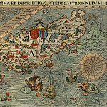 Olaus Magnus – Carta Marina, 1539, Section A: Iceland, Antique world maps HQ