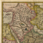 Jan van Linschoten - India and Arabia, 1596, Antique world maps HQ