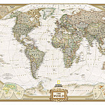 The map of the World in Antique style, 2007, Antique world maps HQ