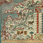 Antique world maps HQ - Olaus Magnus - Carta Marina, 1539, Section I: Russia