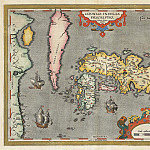 Abraham Ortelius – Japan, 1595, Antique world maps HQ