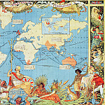 Antique world maps HQ - Map Of The World, c.1886