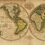 Mathew Carey - Map of the World, 1795, Antique world maps HQ