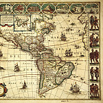 Willem Blaeu – New map of America, 1617, Antique world maps HQ