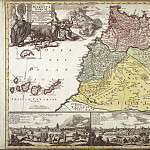 Johann Baptist Homann – North-West Africa, 1728, Antique world maps HQ