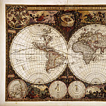 Antique world maps HQ - Frederik de Wit - Nova Orbis Tabula in Lucem Edita, c.1665