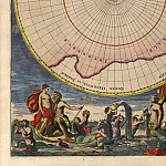 Cornelis Mortier – North and South Pole, 1720, Antique world maps HQ