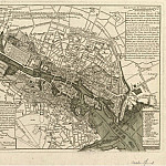 Map over the Seine in Paris, 1741, Antique world maps HQ