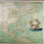 North America, the end of the 17th century, Antique world maps HQ