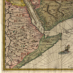Jan van Linschoten – India and Arabia, 1596, Antique world maps HQ
