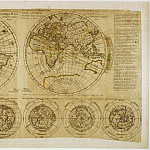 Pierre Moullart-Sanson – Planisphere Moullart, 1695, Antique world maps HQ