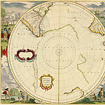 Hendrik Hondius - South Pole, 1639, Antique world maps HQ