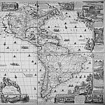 Antique world maps HQ - Nicolas de Fer - North and South America, 1698