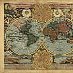 Johann Baptist Homann – Map of the world, 1716, Antique world maps HQ