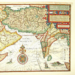 Antique world maps HQ - Jan van Linschoten - India and Arabia, 1596