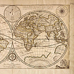 Pierre Duval and Louis Cordier - World Map, 1676, Antique world maps HQ