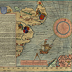 Olaus Magnus - Carta Marina, 1539, Section G: Scotland, England, Antique world maps HQ