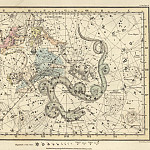 Ursa Minor, Cassiopeia, Tarandus, Cepheus, Draco, Custos Messium, Antique world maps HQ