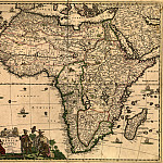 Antique world maps HQ - Frederik De Wit - Africa, 1688