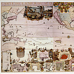 Nicolas de Fer – Map of the New World, 1713, Antique world maps HQ
