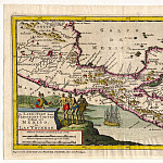 Pieter van der Aa – Yucatan, Honduras, 1706, Antique world maps HQ