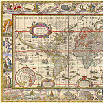 Jan Willemsz. Blaeu - The World map, 1635, Antique world maps HQ