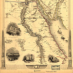 Egypt and Arabia Petraea, 1851, Antique world maps HQ