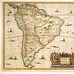 Jan Janssonius - South America, Antique world maps HQ